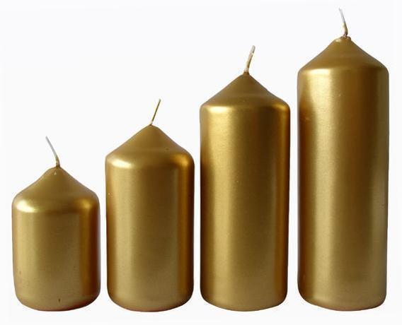 Provence Adventná sviečka ø4m PROVENCE 4 velikosti zlatá
