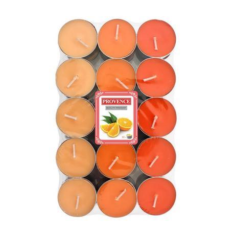 Provence Čajová sviečka PROVENCE 30ks pomaranč