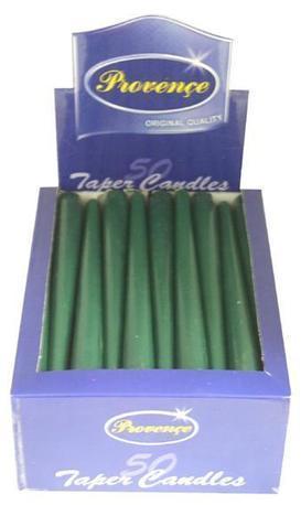 Provence Kónická sviečka 24,5cm PROVENCE tmavo zelená