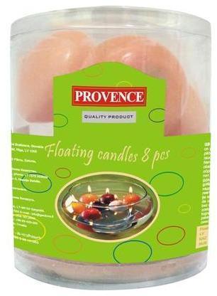 Provence Neparfumovaná plávajúce sviečka PROVENCE 8ks  lososová