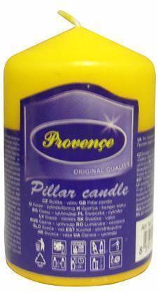 Provence Neparfumovaná sviečka PROVENCE 8cm žltá