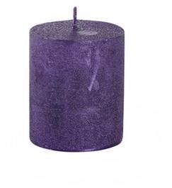 Provence Rustikálna sviečka 7cm PROVENCE fialová