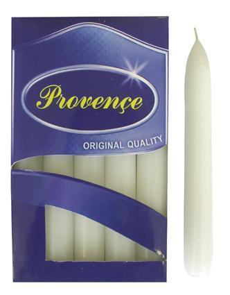Provence Sviečka 17cm PROVENCE Bistro 10ks biela