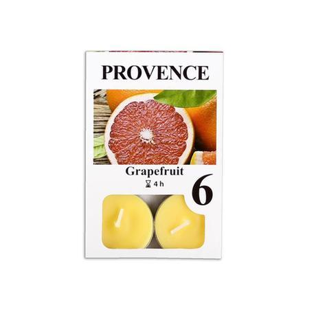 Provence Čajová sviečka PROVENCE 6ks grapefruit