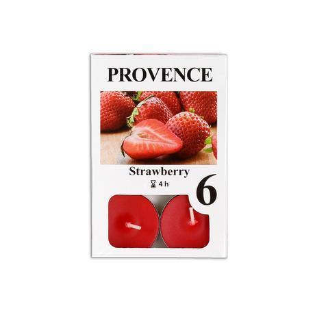 Provence Čajová sviečka PROVENCE 6ks jahoda