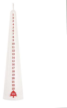 Provence Sviečka kónická biela, 25 cm, adventná