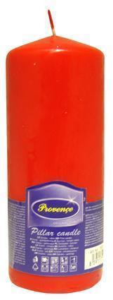 Provence Neparfumovaná sviečka PROVENCE 16cm červená