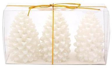 Provence Sviečka šiška, 3 ks, biela