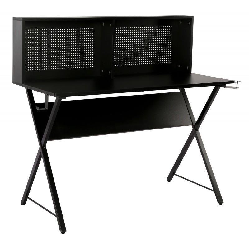 Písací stôl s magnetickou tabuľou Giani 137 cm čierny