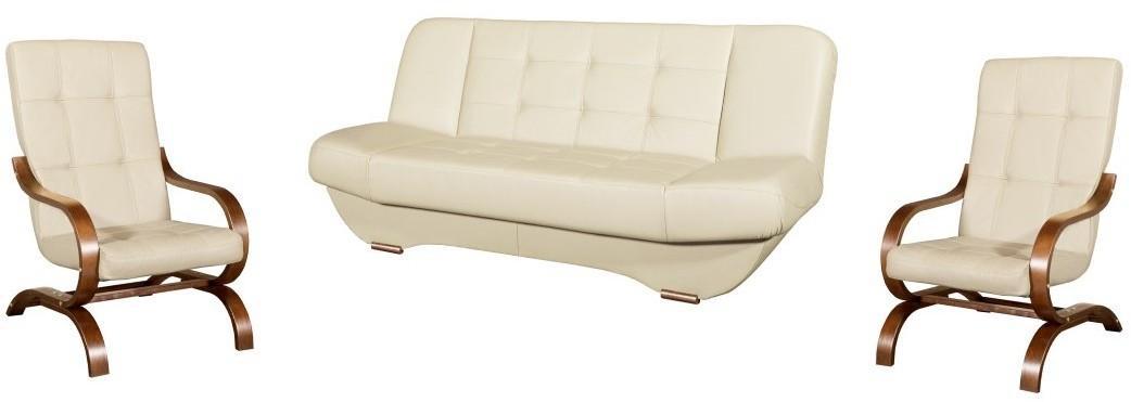 PYKA Eryk 3R+1+1 kožená sedacia súprava s rozkladom D3 / S21