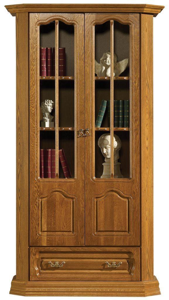 PYKA Kinga rustikálna knižnica drevo D3