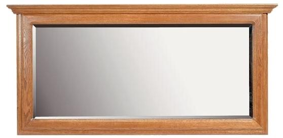 PYKA Kinga rustikálne zrkadlo na stenu drevo D3