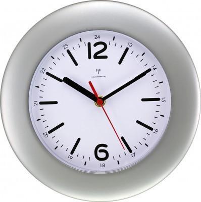 Rádiom riadené hodiny MPM, 2953.70 - strieborná, 25cm