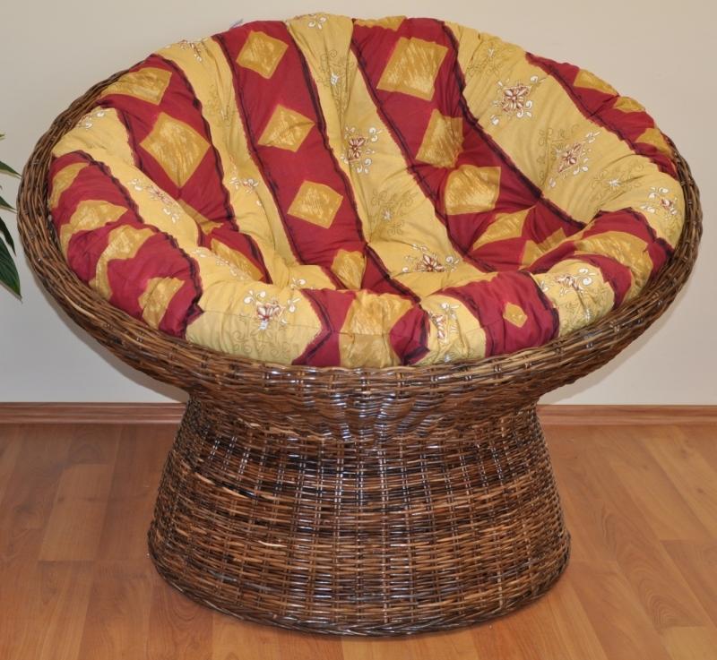 ratanový papasan Croco 110cm