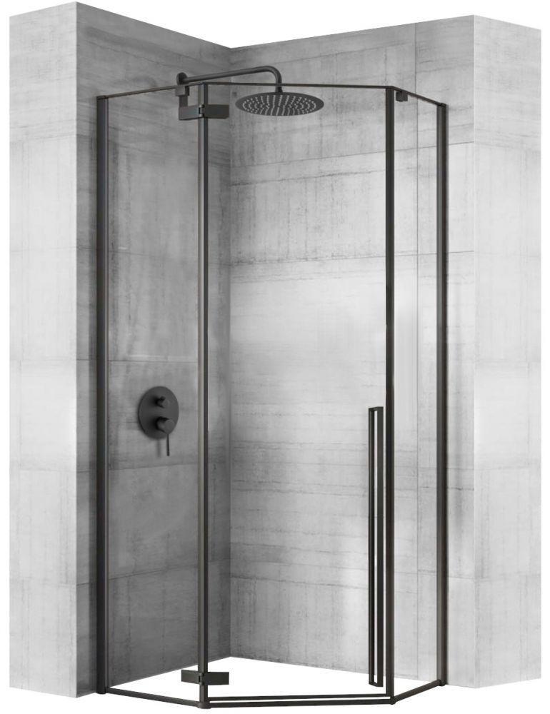 REA - Sprchovací kút Diamond 80x80 čierny matný REA-K6900