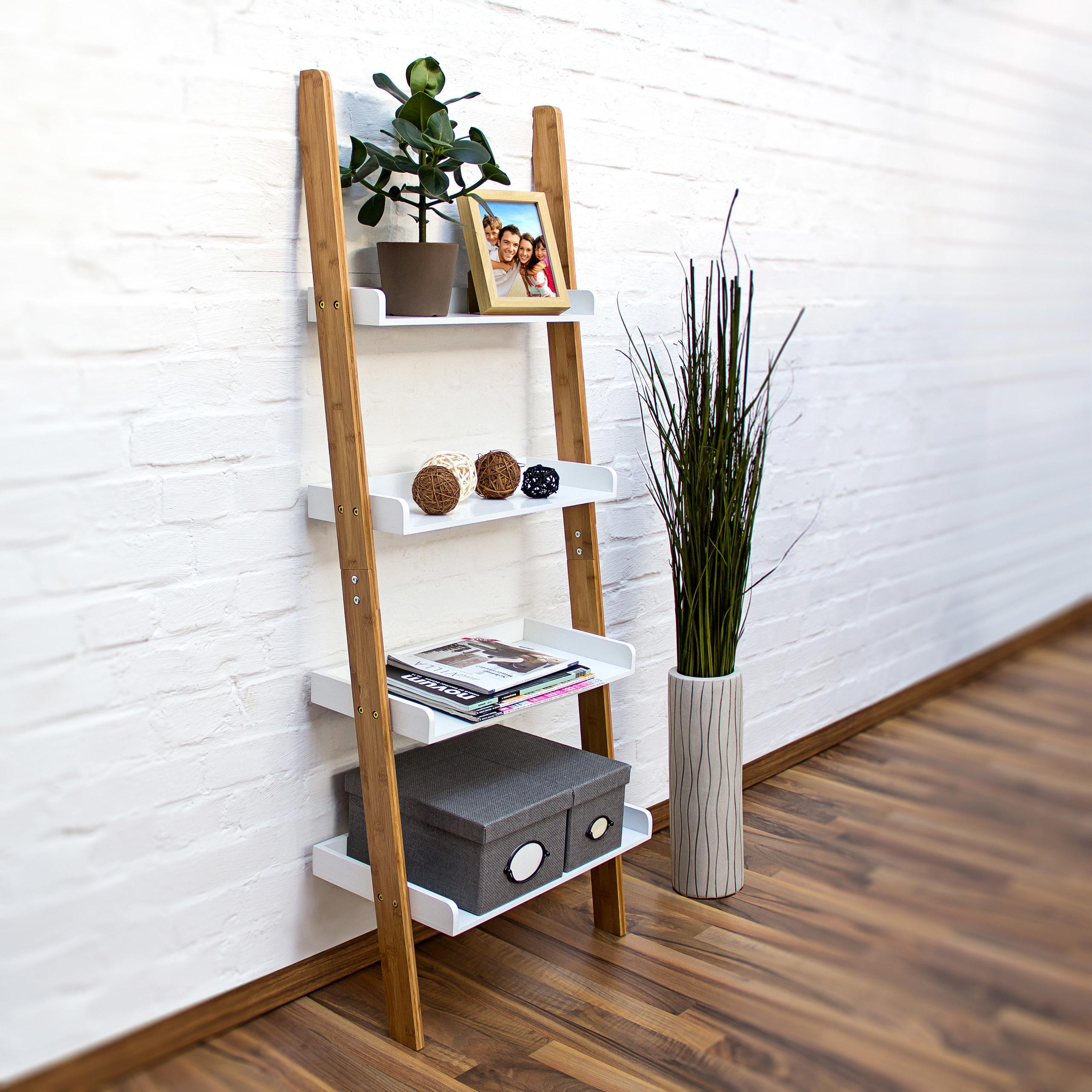 Rebríkový stojan na police Bamboo, rd9170