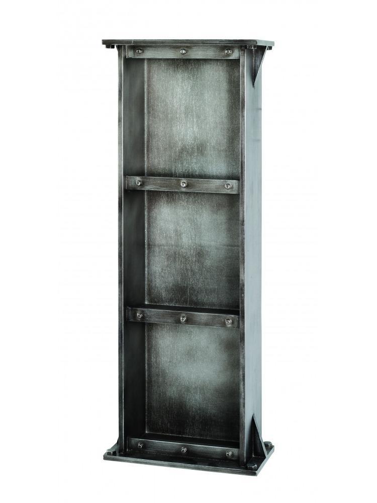 Regál s 3 policami Trident, 95 cm, antracitová