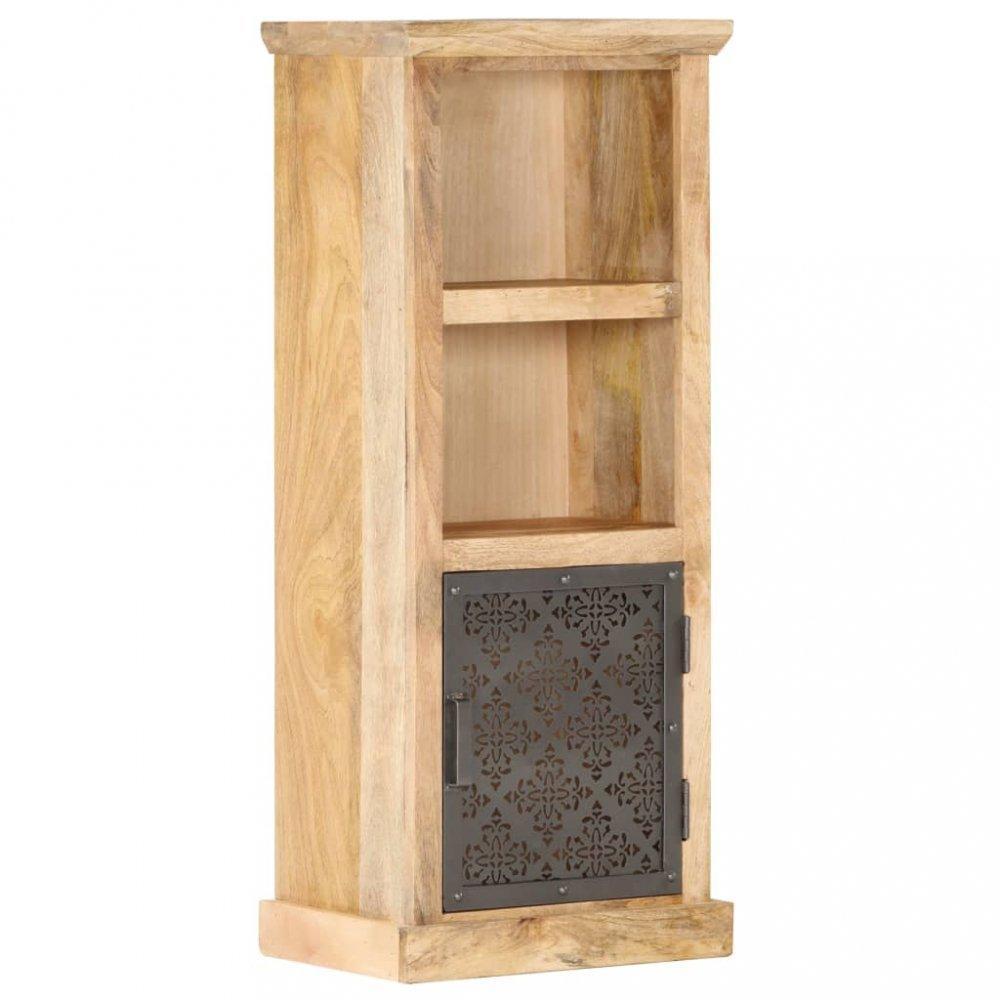 Regál s oceľovými dvierkami masívne drevo Dekorhome