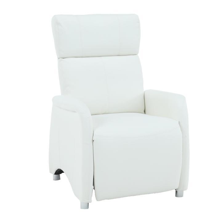 Relaxačné kreslo Francesco CH-113100 koža PU biela