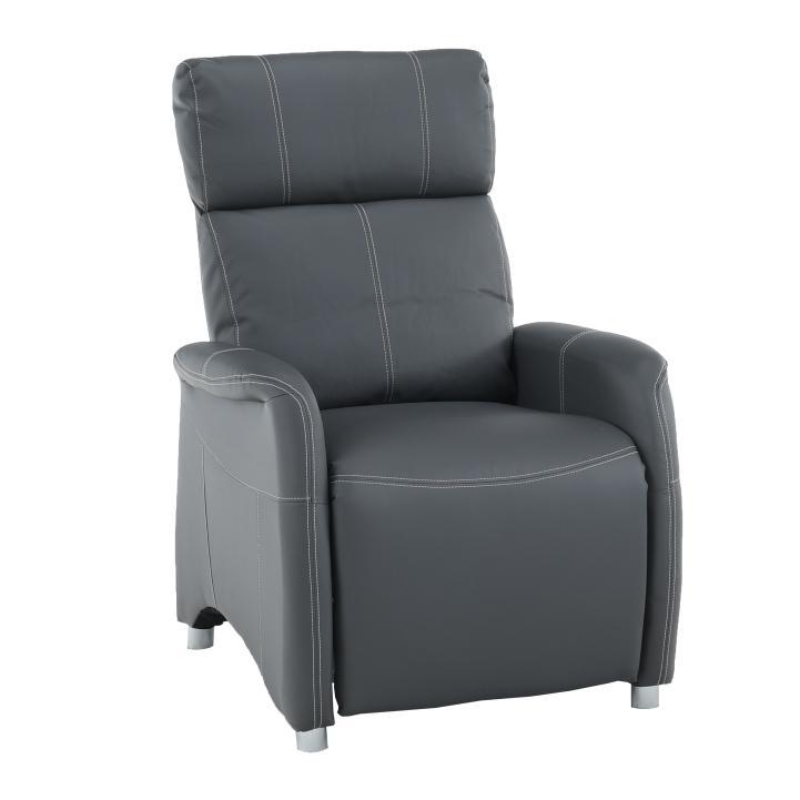 Relaxačné kreslo Francesco CH-113100 koža PU šedá