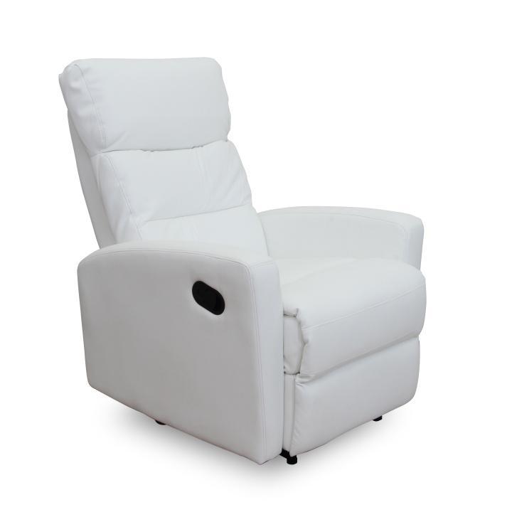 Relaxačné kreslo Sylris (biela)