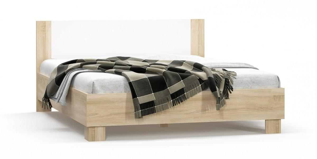 RENAR Markos 160 manželská posteľ s roštom dub sonoma / biela