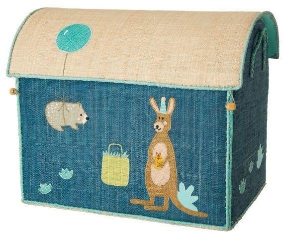 rice Detský úložný box Raffia Birthday Animals L