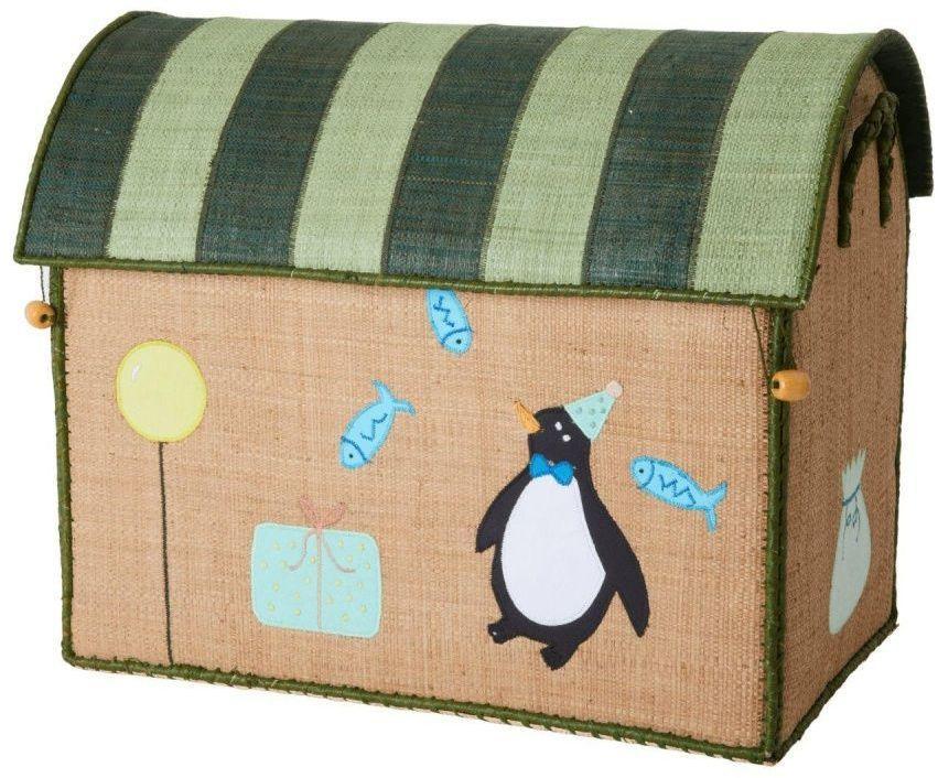 rice Detský úložný box Raffia Birthday Animals M