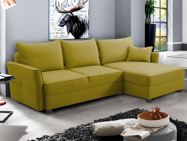 Rohová sedacia súprava Livorno, žltá tkanina