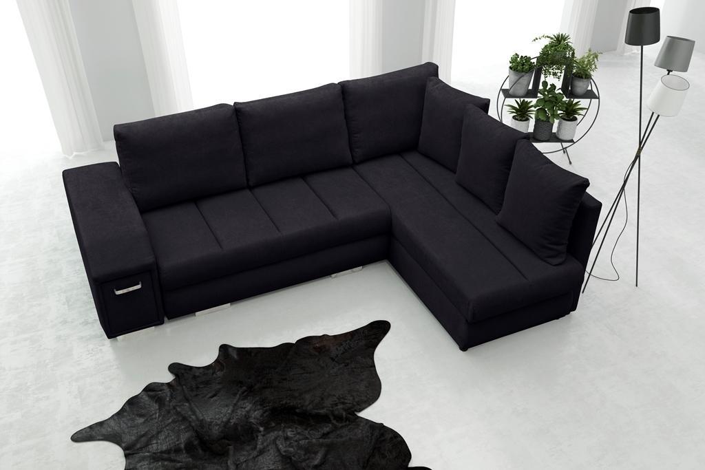 Rohová sedačka Arlene (čierna) (P)