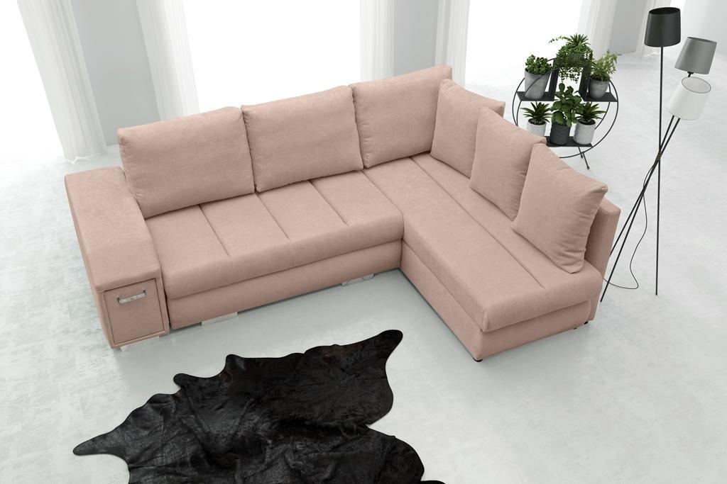 Rohová sedačka Arlene (ružová) (P)