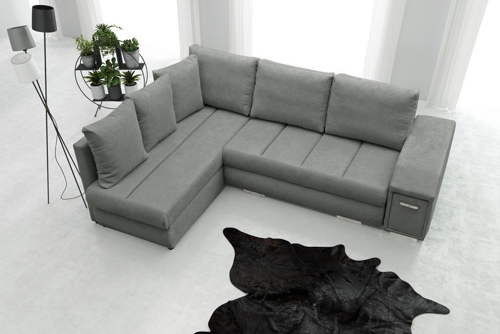 Rohová sedačka Arlene (sivá) (L)