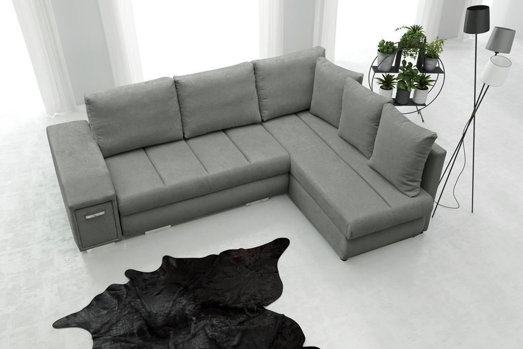 Rohová sedačka Arlene (sivá) (P)