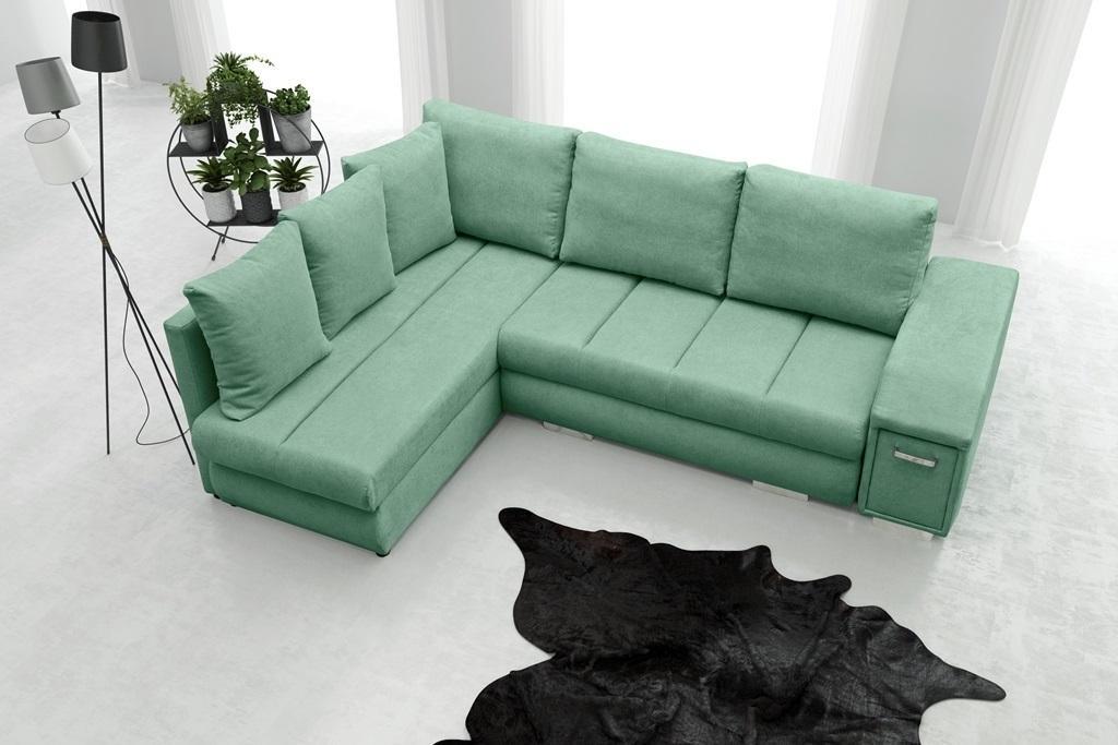 Rohová sedačka Arlene (zelená) (L)