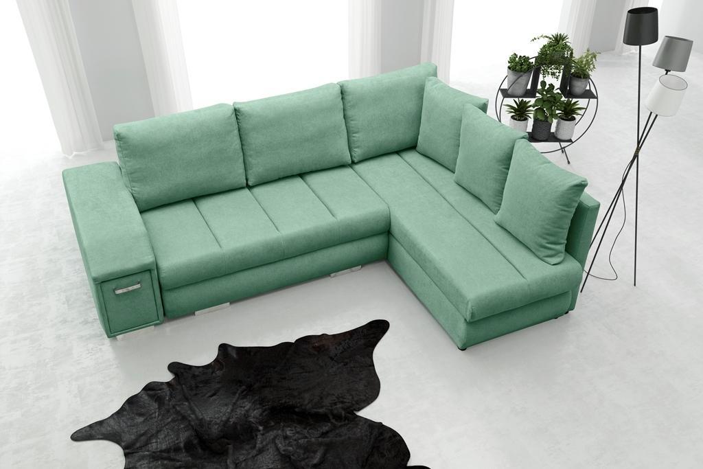 Rohová sedačka Arlene (zelená) (P)