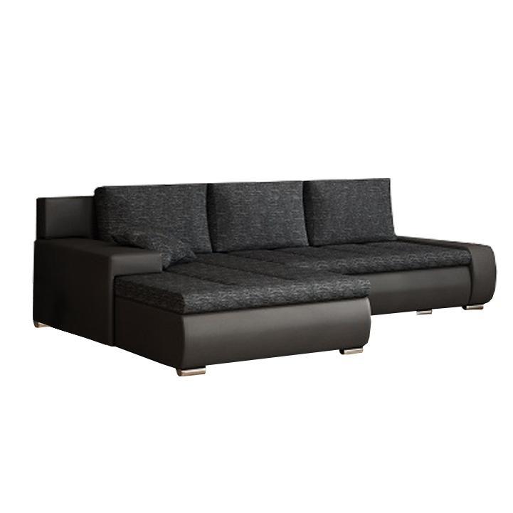Rohová sedačka Gisoil (čierna)