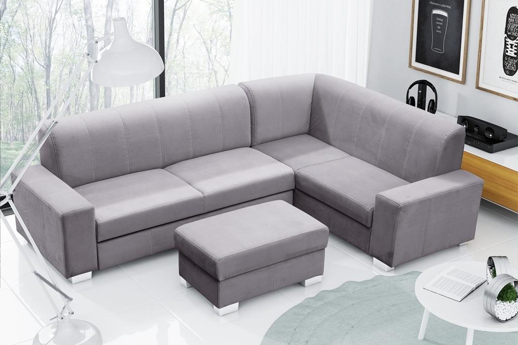 Rohová sedačka Mckennzie (svetlosivá) (P)