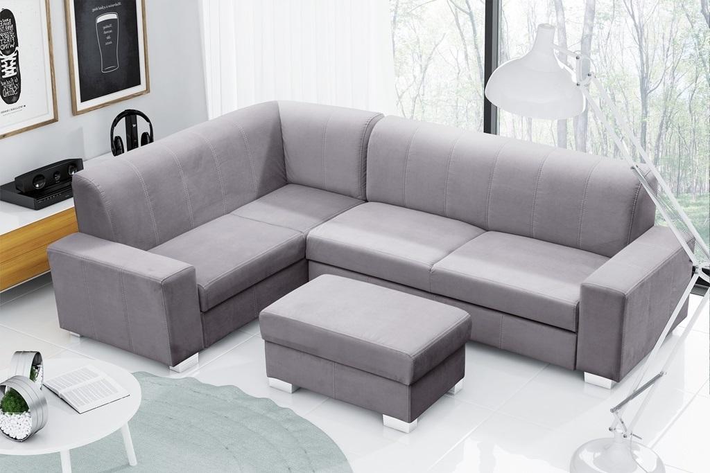 Rohová sedačka Mckenzie (svetlosivá) (L)