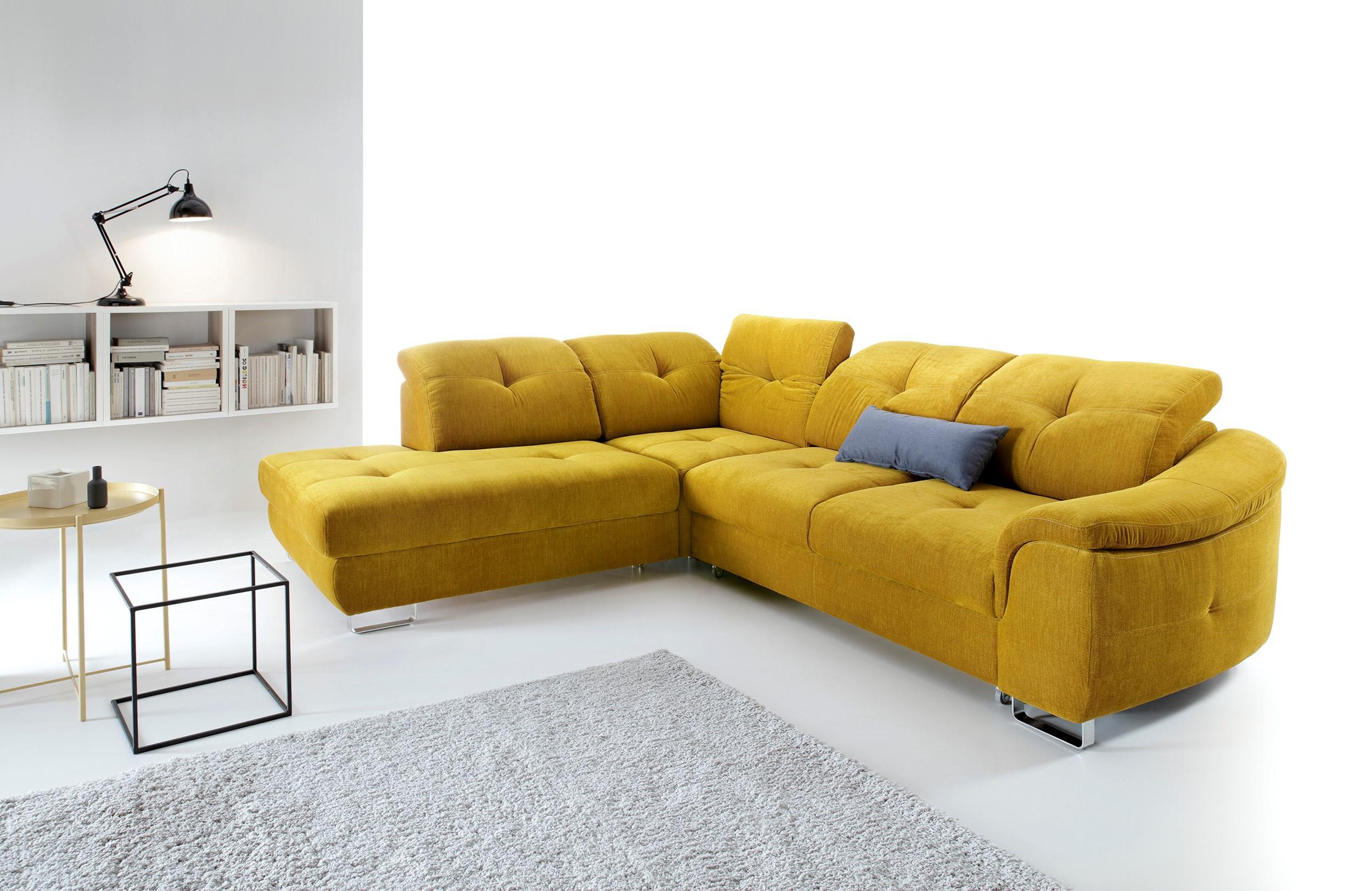 Rohová sedačka Nocton (žltá) (L)
