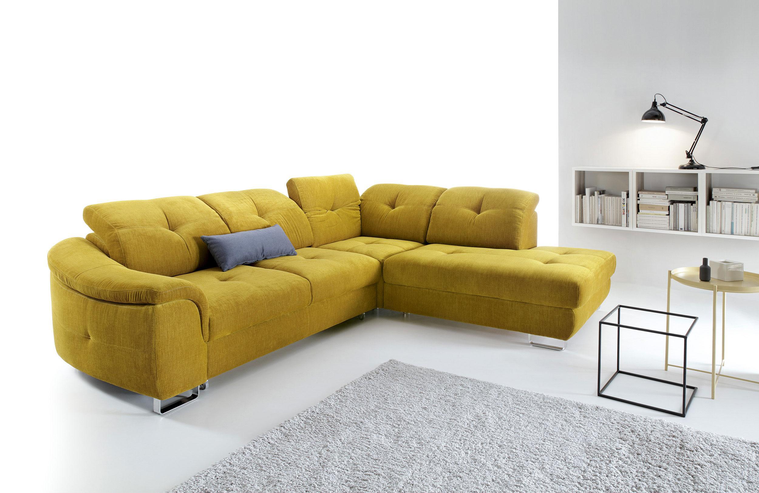 Rohová sedačka Nocton (žltá) (P)