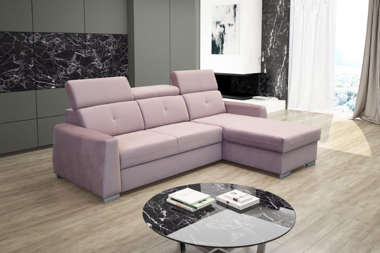 Rohová sedačka Roxi (ružová) (P)