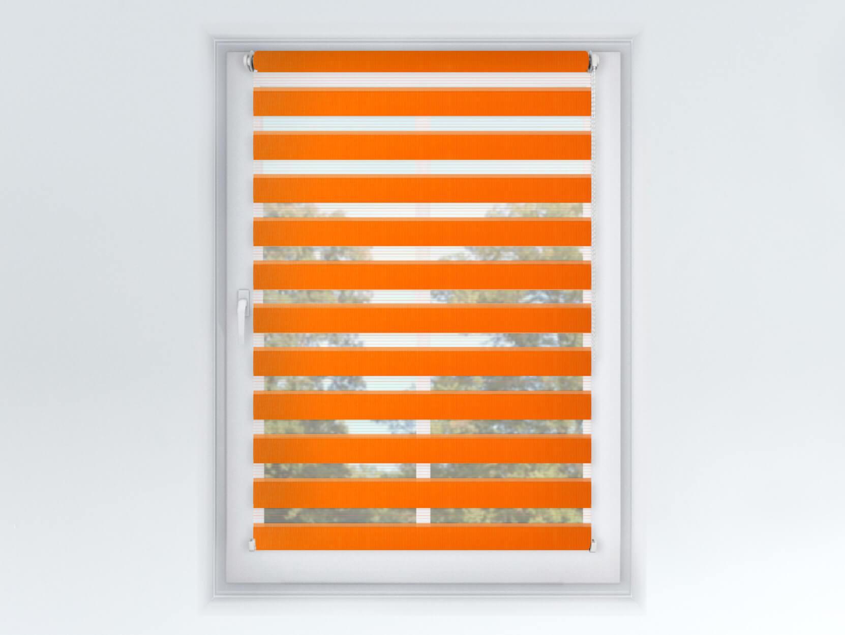 Roleta Deň a noc, Origin slim mandarínka, A 033 Šírka rolety: 30 cm, Výška rolety: 150 cm, Strana a farba mechanizmu: Pravá - Hnedá