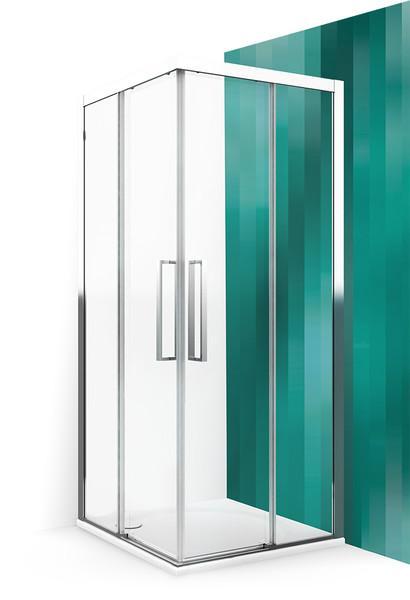 Roltechnik Exclusive line sprchové dvere ECS2L 900 čierny elox/transparent
