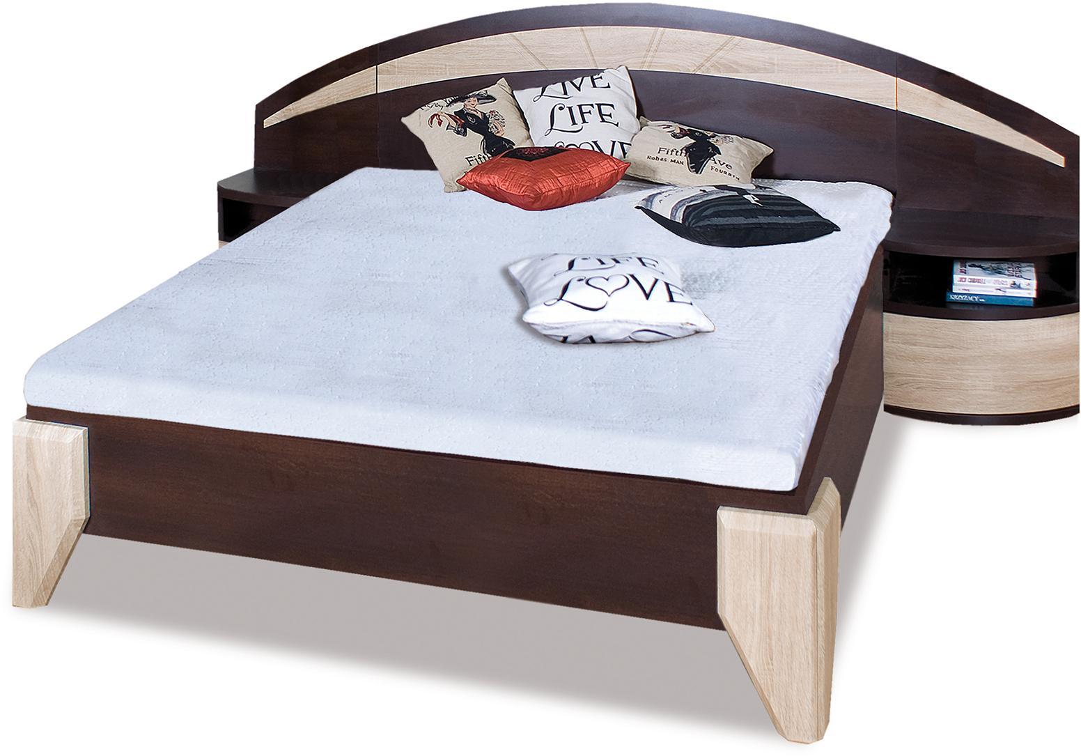 ROME manželská posteľ DL1-1 sosna + dub sonoma