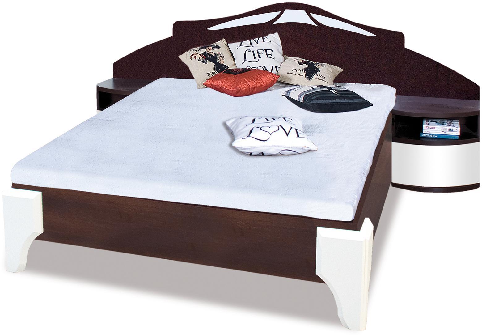 ROME manželská posteľ DL1-4 sosna + biely lesk
