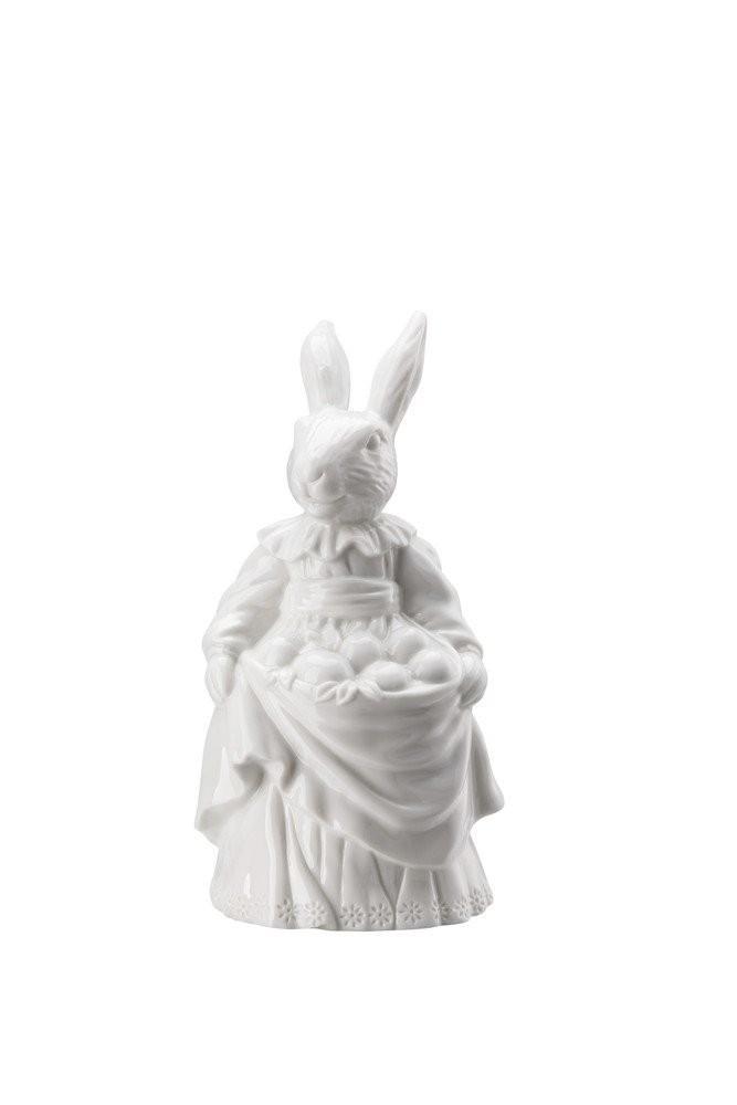 Rosenthal veľkonočná figúrka pani Zajacová s vajíčkami, Easter Bunny Friends, 13,3 cm, biela