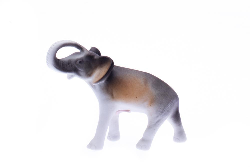 Royal Dux Bohemia Porcelánová figurka, slon, Royal Dux, 11 cm