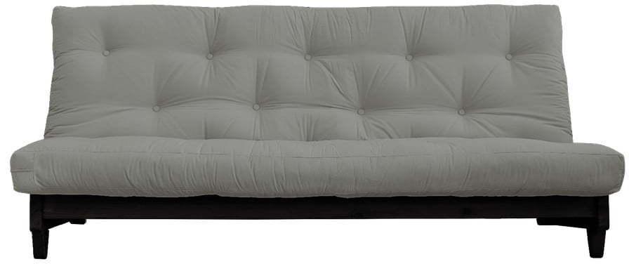 Rozkladacia pohovka so sivým poťahom Karup Design Fresh Black/Grey