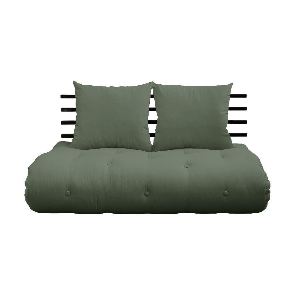 Variabilná pohovka Karup Design Shin Sano Black/Olive Green