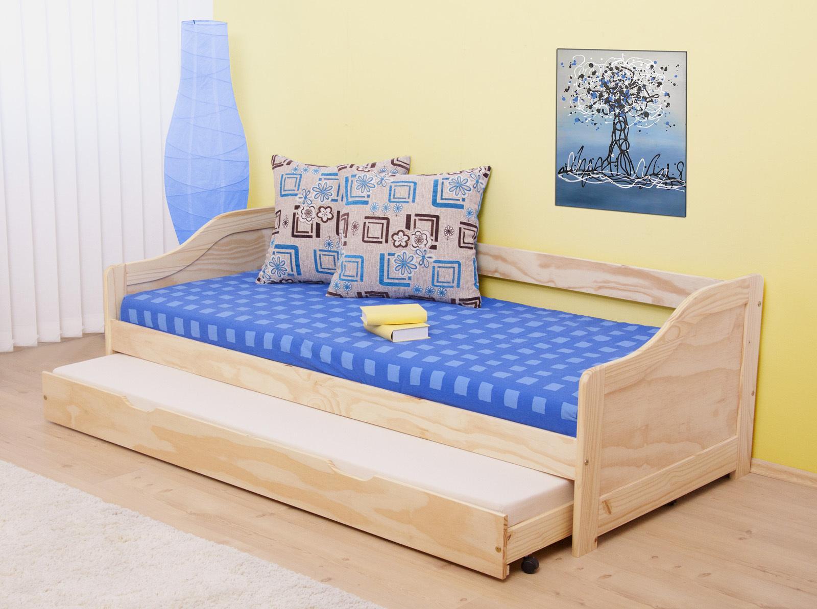 Rozkladacia posteľ 90 cm Laila (masív, s dvomi roštami)